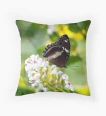 Sunshine - common eggfly butterfly  Throw Pillow