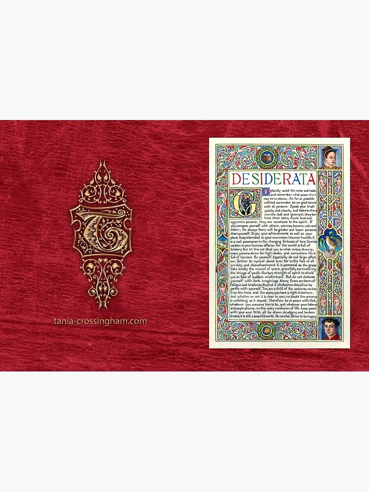 Medieval Illumination - Desiderata by TCilluminate