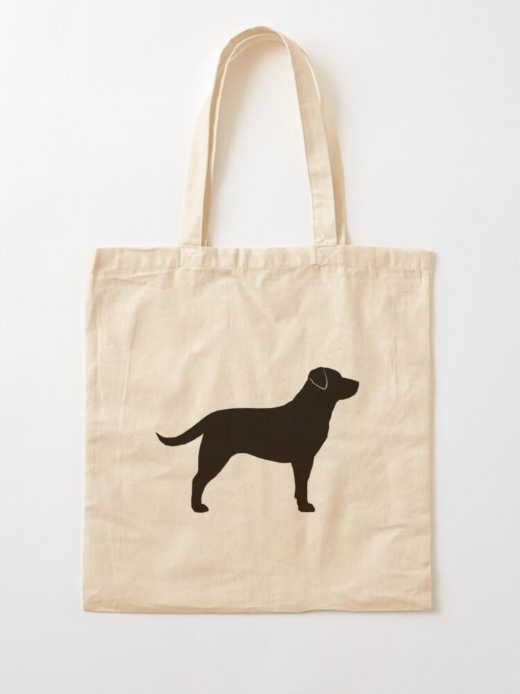 Alternate view of Black Labrador Retriever Silhouette(s) Tote Bag