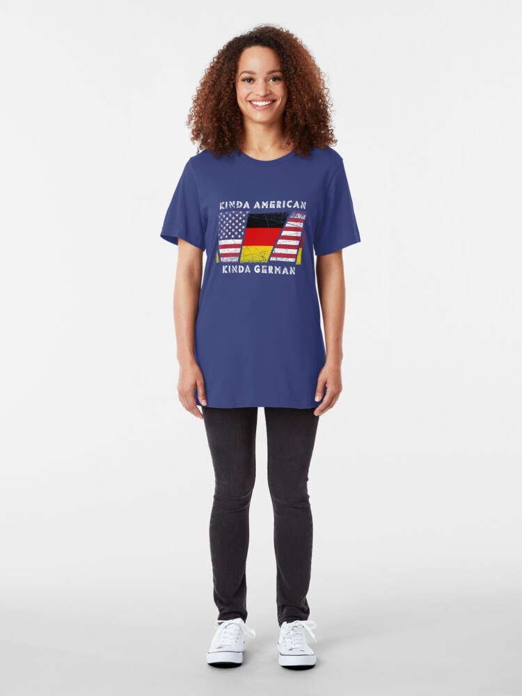 Alternative Ansicht von Kinda American Kinda German - Dual Citizenship Slim Fit T-Shirt