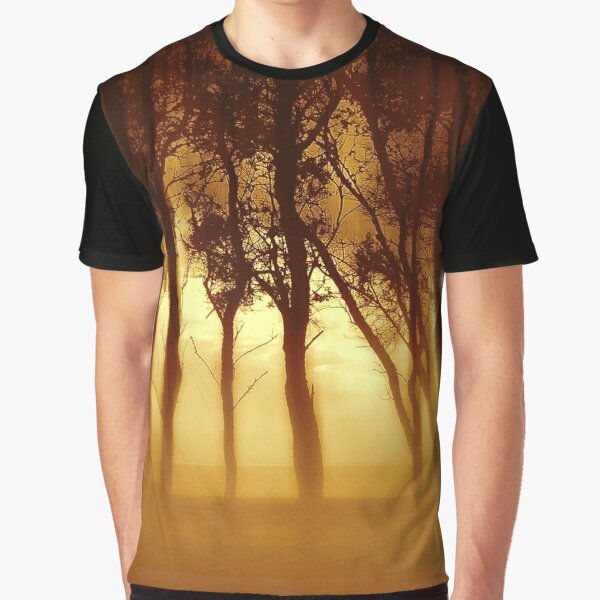 Morning Tree Silhouette(Sepia) Graphic T-Shirt