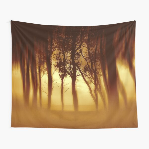 Morning Tree Silhouette(Sepia) Tapestry