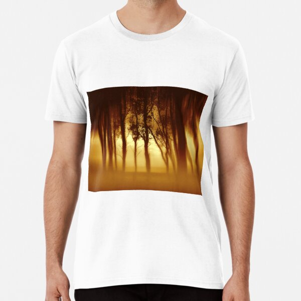 Morning Tree Silhouette(Sepia) Premium T-Shirt