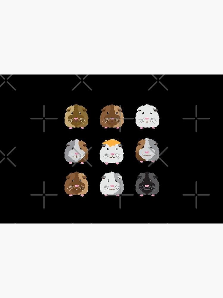 Nine Guinea pigs faces (Super cute!) by jazzydevil