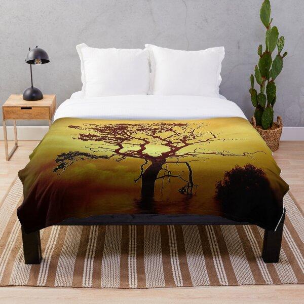 Evening Tree Throw Blanket