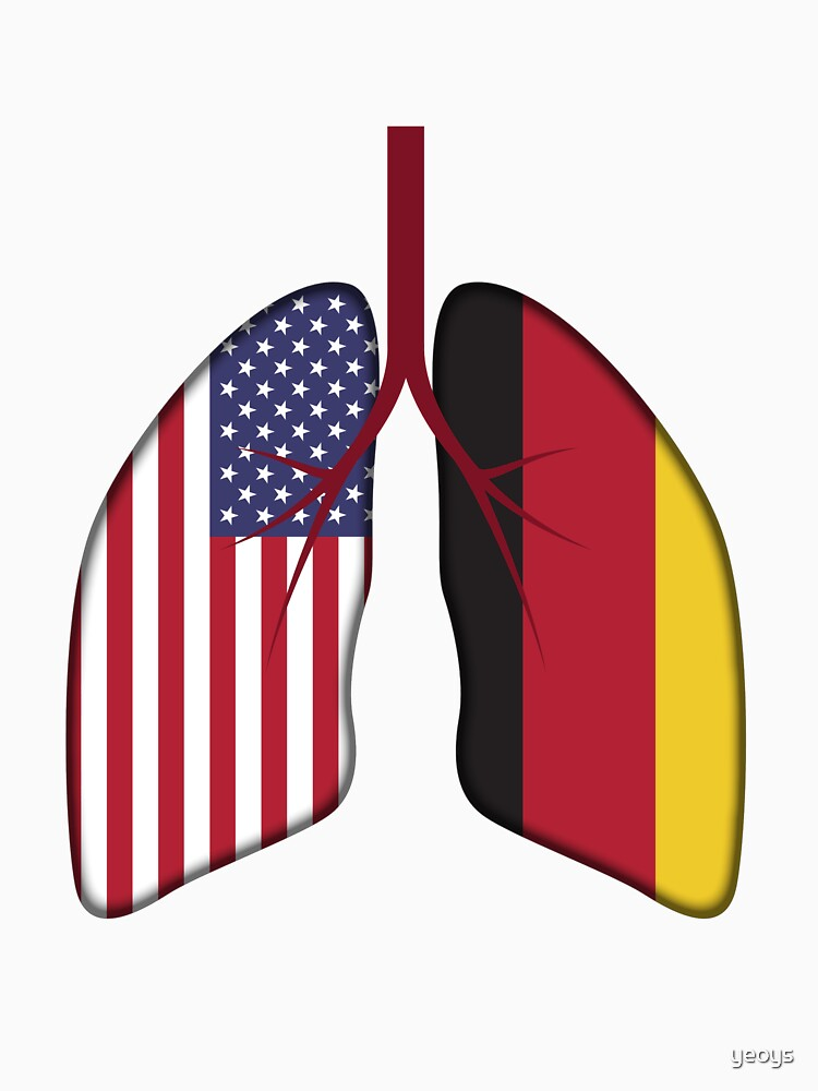 Germany USA Flag Lungs - Dual Citizenship von yeoys