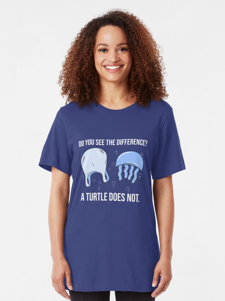 Alternative Ansicht von Do You See The Difference A Turtle Does Not - Save The Seaturtles Slim Fit T-Shirt