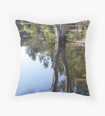 Refecting Trees Throw Pillow
