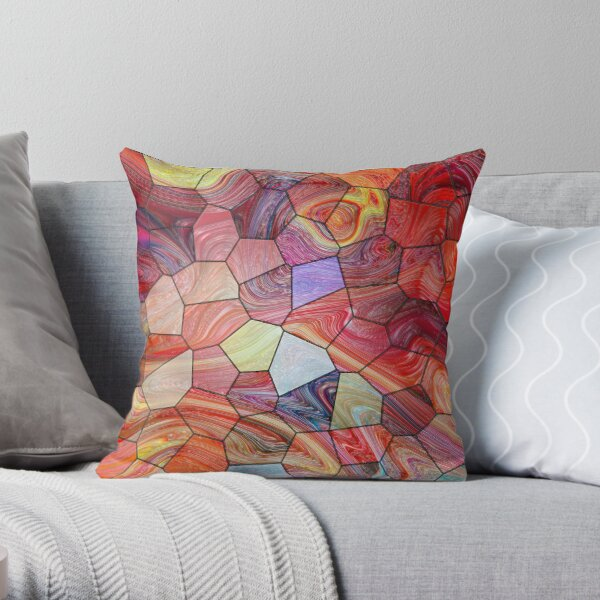 Marble 3 Throw Pillow