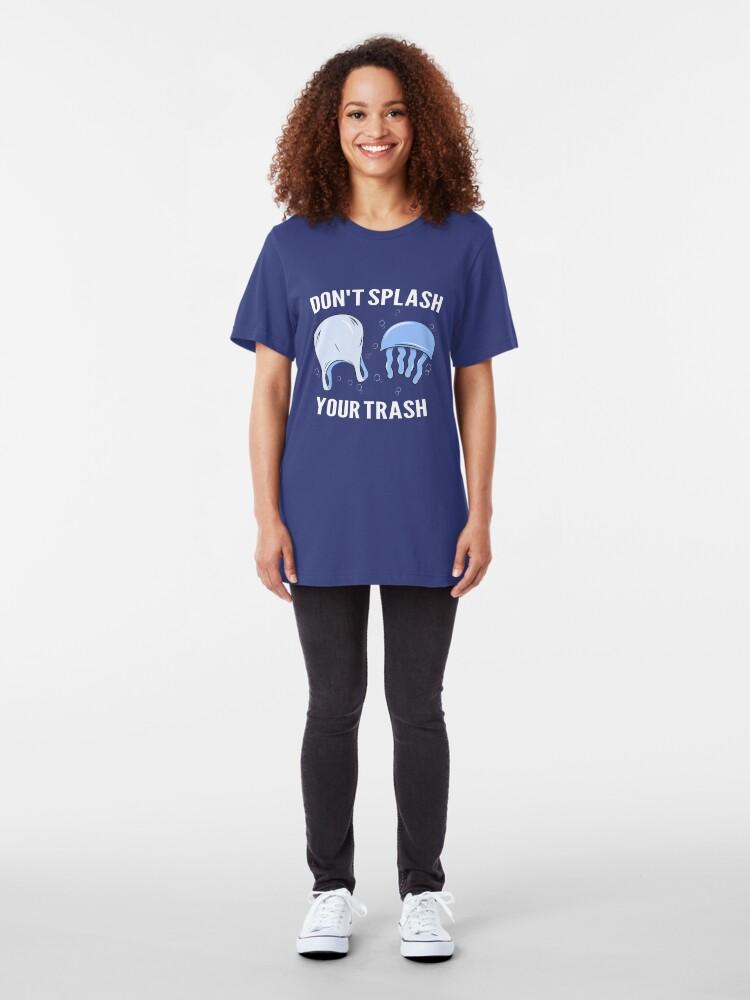 Alternative Ansicht von Don't Splash Your Trash - Save The Oceans Slim Fit T-Shirt