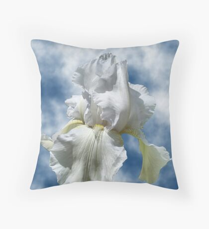 Iris In The Clouds Throw Pillow