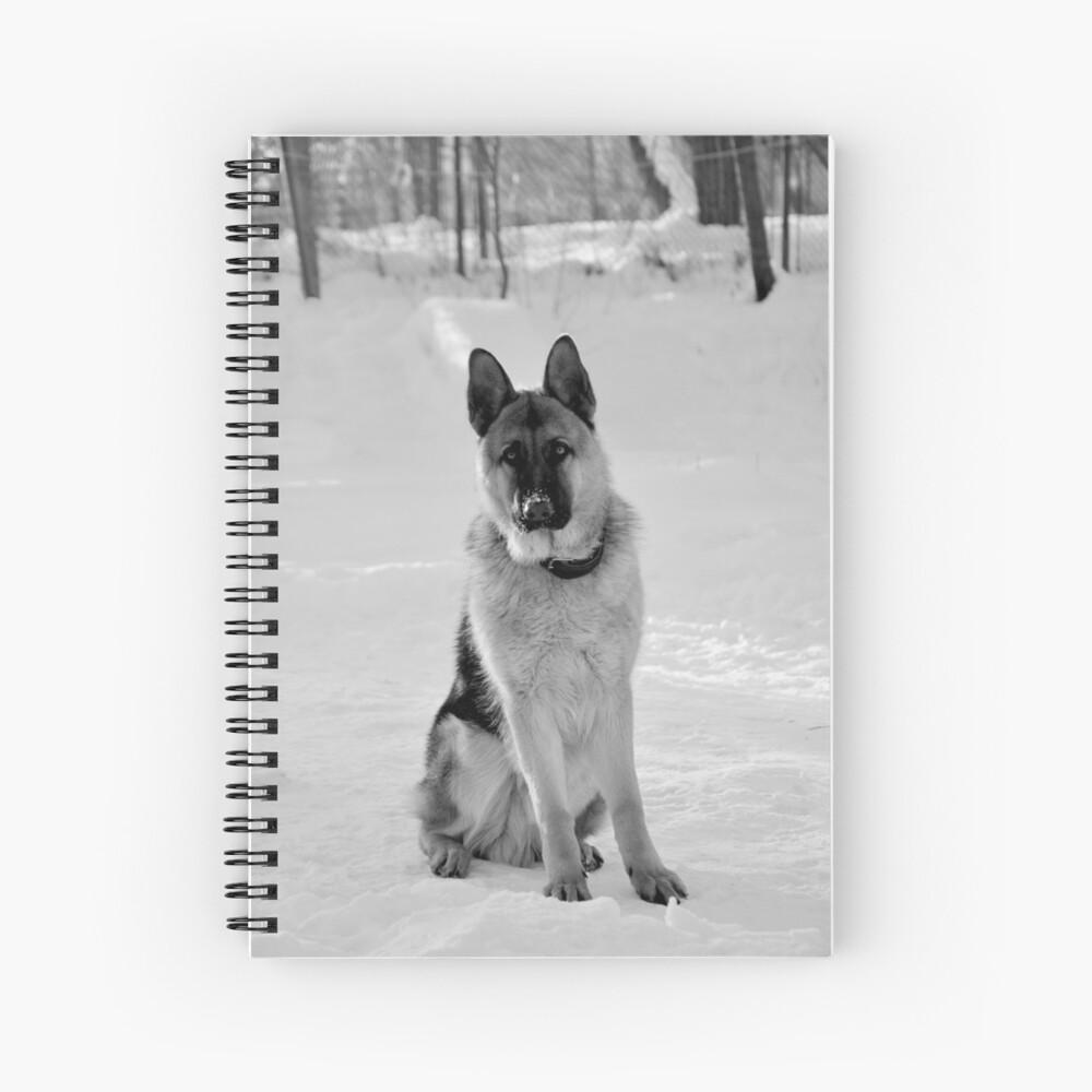 Staying watch - German shepherd Spiral Notebook