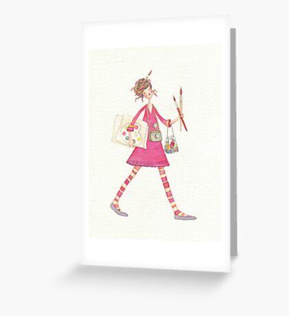 Artist girl Greeting Card