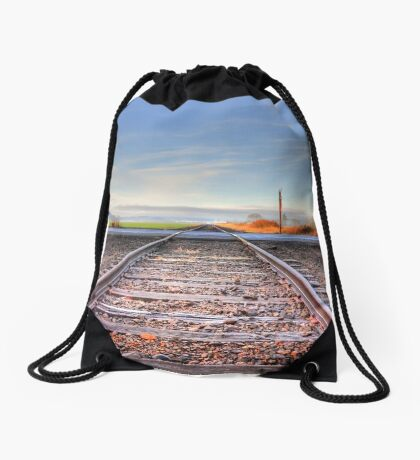 Old set of tracks  Drawstring Bag