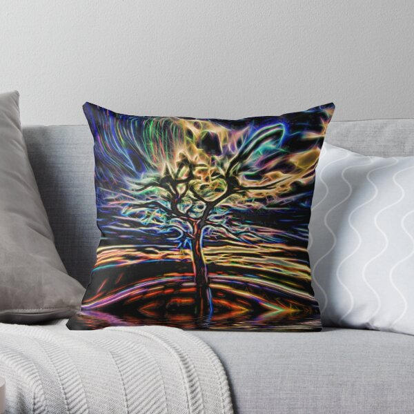 Neon Tree Shapes 11 Throw Pillow