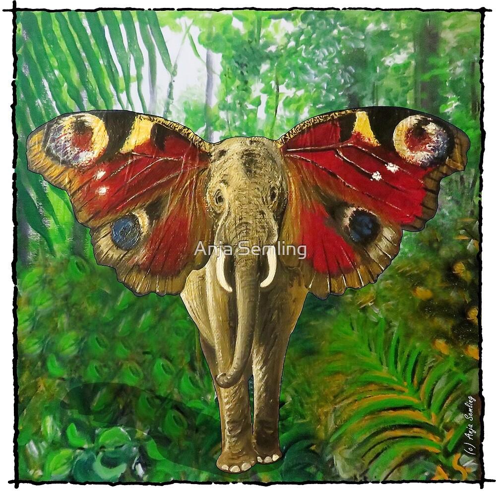 ELEPHANT I BUTTERFLY by Anja Semling