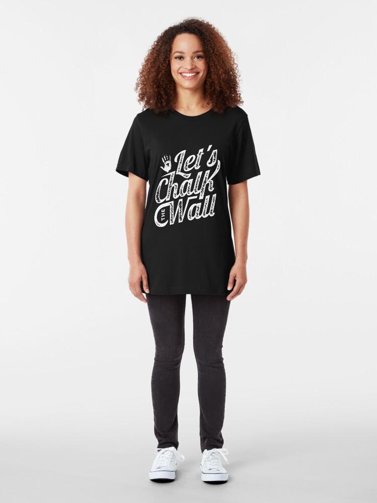 Alternative Ansicht von Let's Chalk The Wall - Climbing & Boulder Slim Fit T-Shirt