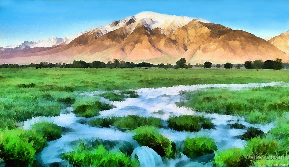 Mountain Landscape by Walter Colvin