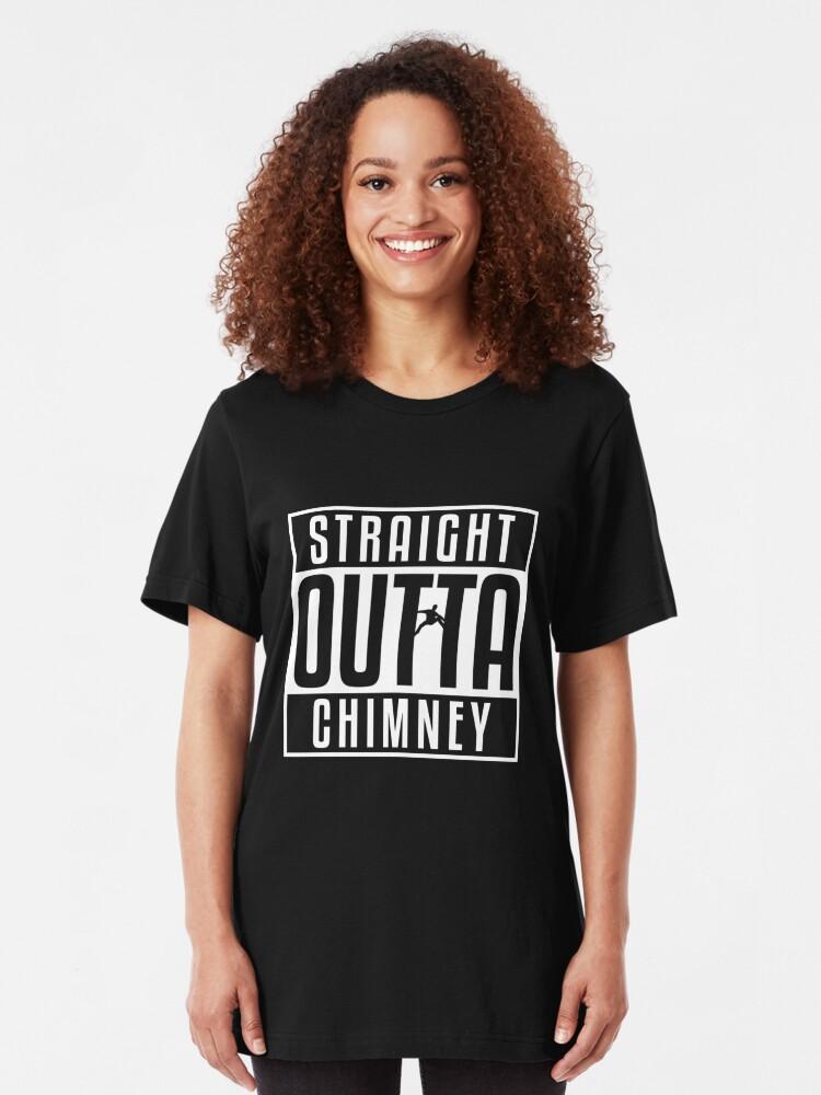 Alternative Ansicht von Straight Outta Chimney - Rock Climbing Slim Fit T-Shirt