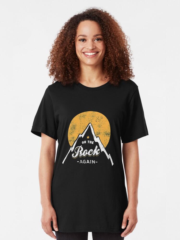 Alternative Ansicht von On The Rock Again - Rock Climbing Slim Fit T-Shirt