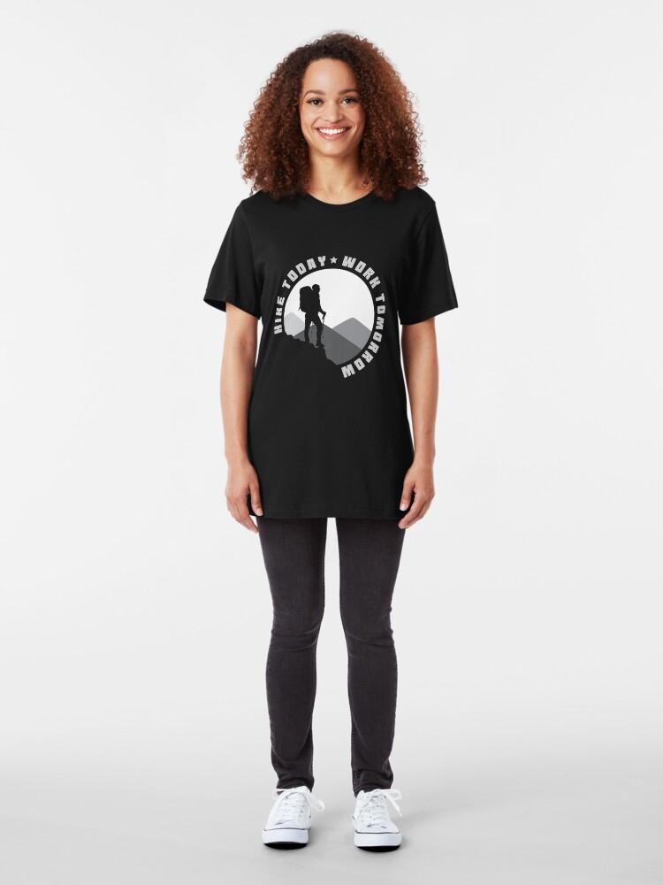 Alternative Ansicht von Hike Today Work Tomorrow - Hike Slim Fit T-Shirt