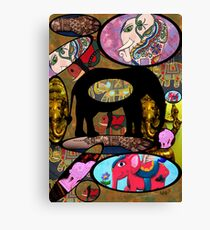 Images of Elephants Canvas Print