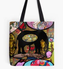 Images of Elephants Tote Bag