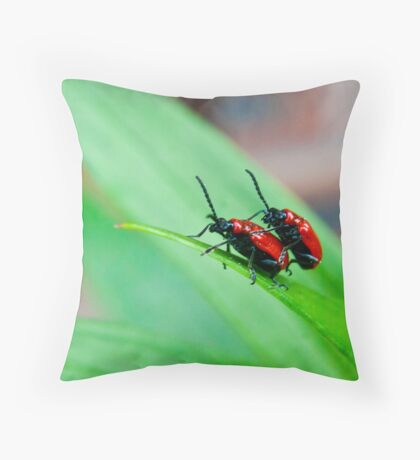 At The End of the Leaf Throw Pillow