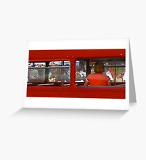 double decker Greeting Card