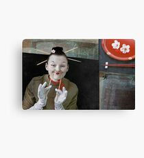 Smile in Japanese style Canvas Print