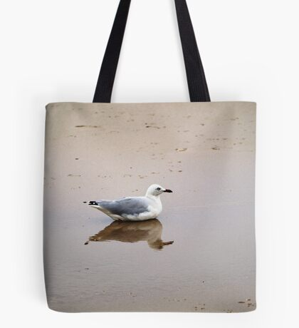 Bird in Reflection Tote Bag