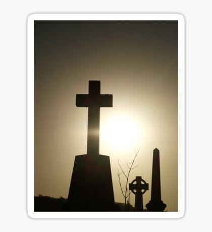 Silhouette Cross Sticker