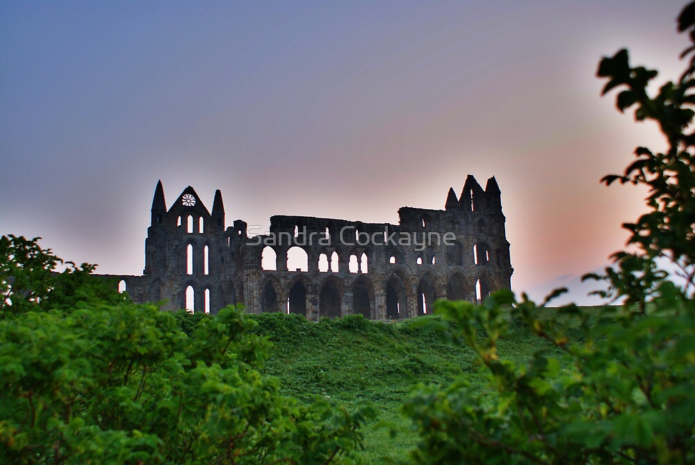 Whitby Abbey At Dawn Light by Sandra Cockayne
