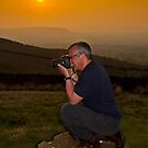 Mr C. and the sunset from Pendle hill by Shaun Whiteman