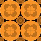 Geometric Pattern: Flower Circle: Orange Dark by * Red Wolf