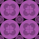 Geometric Pattern: Flower Circle: Purple Dark by * Red Wolf