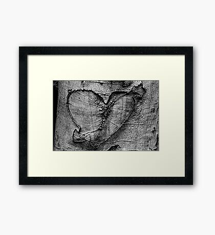 Carved Heart Framed Print