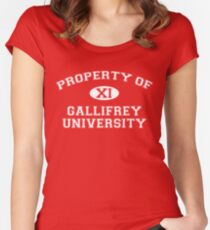 Property of Gallifrey University - 11th Doctor Women's Fitted Scoop T-Shirt