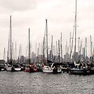 Melbourne CBD from Williamstown by FineEtch