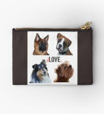 LOVE dogs Zipper Pouch