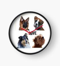 LOVE dogs Clock