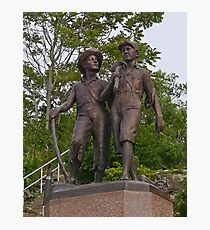 Tom Sawyer and Huckleberry Finn, Hannibal, Missouri, USA Photographic Print