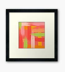 Abstract Grapefruit Framed Print