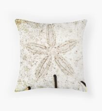 Dirty sanddollar Throw Pillow