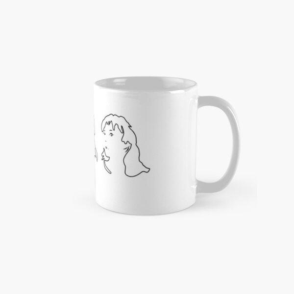 Triptych 3 faces outline (classic mug)  Classic Mug