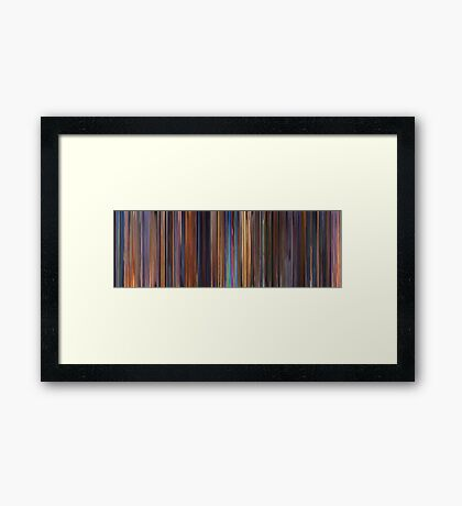 Moviebarcode: Toy Story 2 (1999) Framed Print