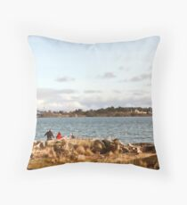 Day At The Beach - Esquimalt Lagoon BC Canada Throw Pillow