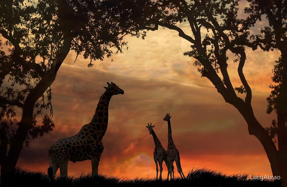 Giraffe Pose by LucyAbrao