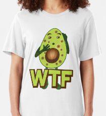 Avocado WTF Emoji JoyPixels Amezed Avocado Sprichwort Slim Fit T-Shirt