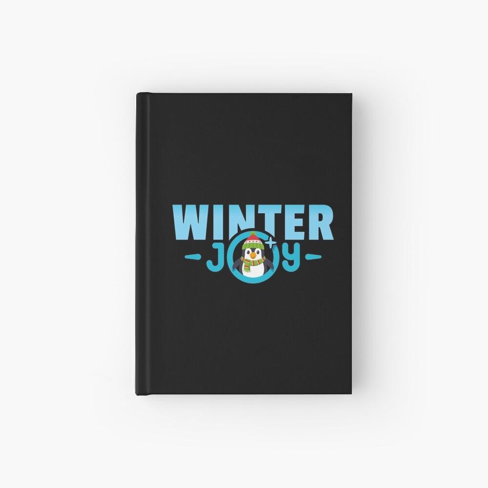 Winter Joy Logo Emoji JoyPixels für Weihnachten Notizbuch